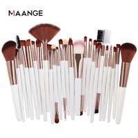 MAANGE 25 stücke Make-Up Pinsel Set Schönheit Stiftung Erröten Lidschatten Brow Lash Fan Lip Concealer Gesicht Make-Up-Tool pinsel Kit