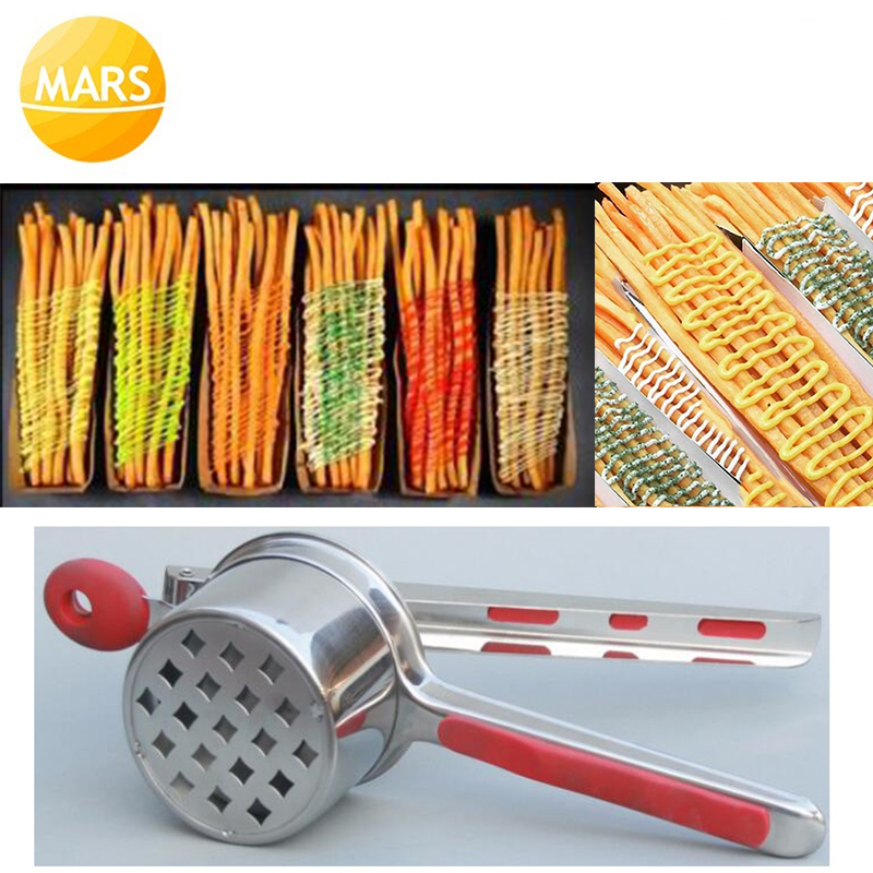 20cm 30cm Long French Fries Maker Machine Hand Press Footlong Fries Cutter Manual Potato Chips Squeezer