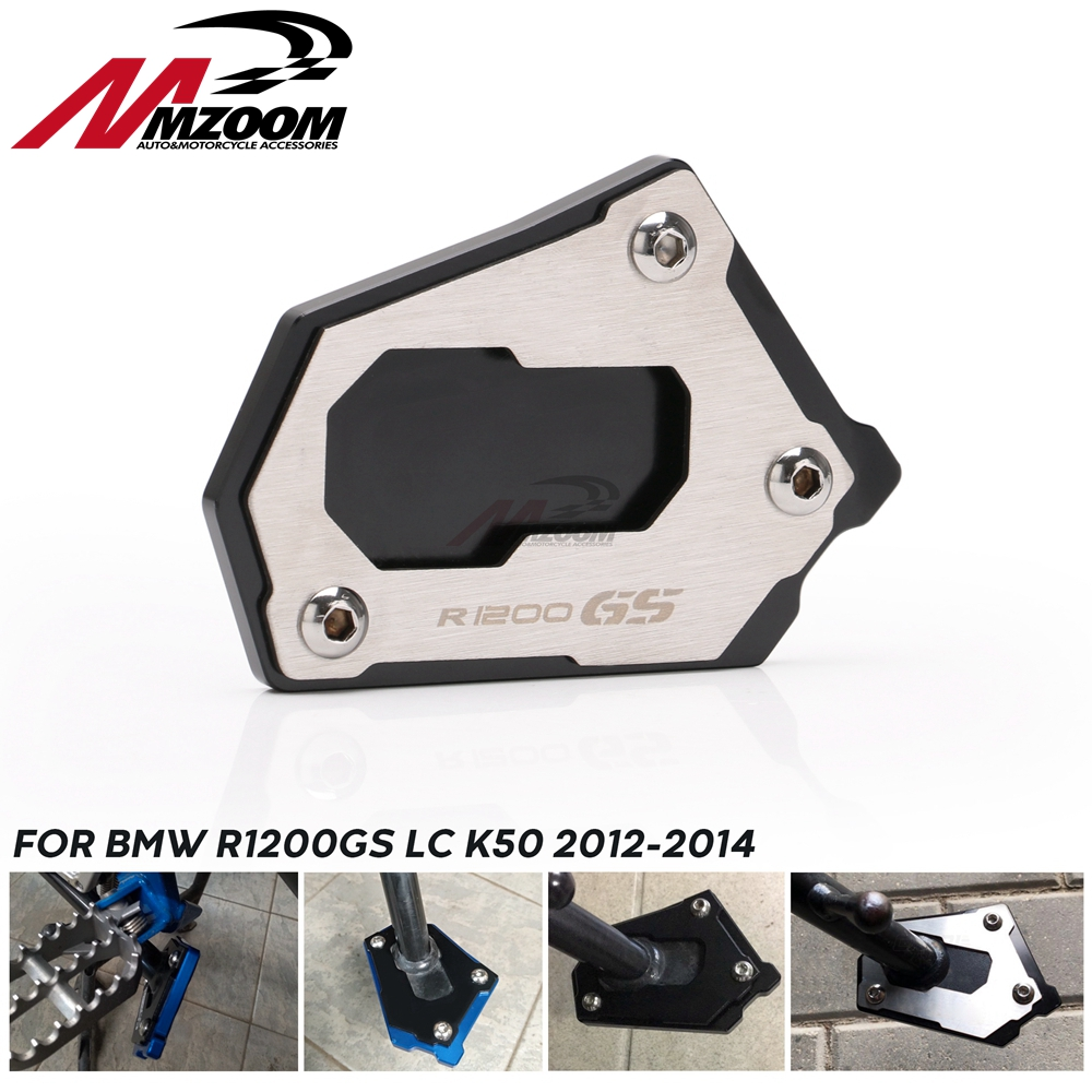 <font><b>Motorcycle</b></font> New Side Stand Pad Extension Plate for BMW <font><b>R1200GS</b></font> LC K50 2012-2016 R 1200 <font><b>GS</b></font> Adventure LC K51 2013-2016 image