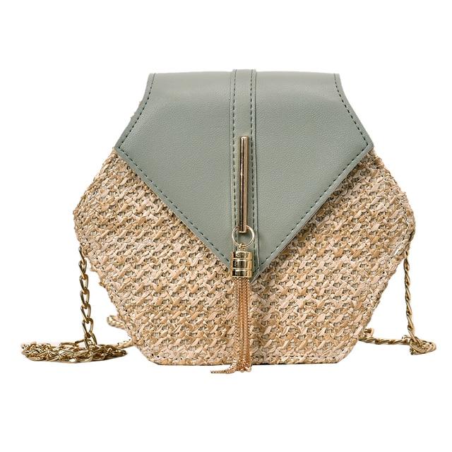 2020 New Hexagon Mulit Style Straw Handmade Woven Beach Bag
