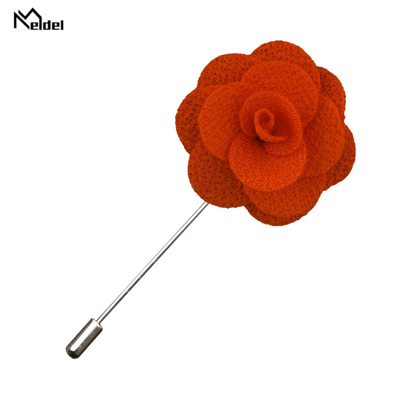 Meldel Brooch Buttonhole Woman Corsage Pins Groom Boutonniere Men Wedding Witness Fabric Flower Wedding Boutonniere Flowers Prom