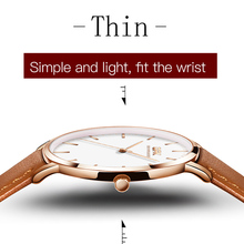 OPK Leather Women Watch Dress Thin Fashion Casual Round Quar