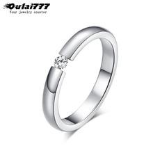 oulai777 womens ring stainless steel female simple dainty crystal gold rings accessories fashion 2019 silver promise boho