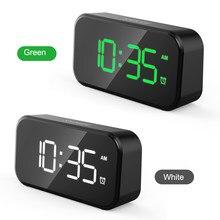 Réveil 6 horloge de Table de réglage de la luminosité 2 affichage de l'heure double réveil numérique avec Snooze horloges de LED de bureau électronique