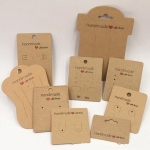 50pcs Kraft Paper Handmade With Love DIY Jewelry Accessories Card for Necklace Earring Hairpin Pendant Displays Cards