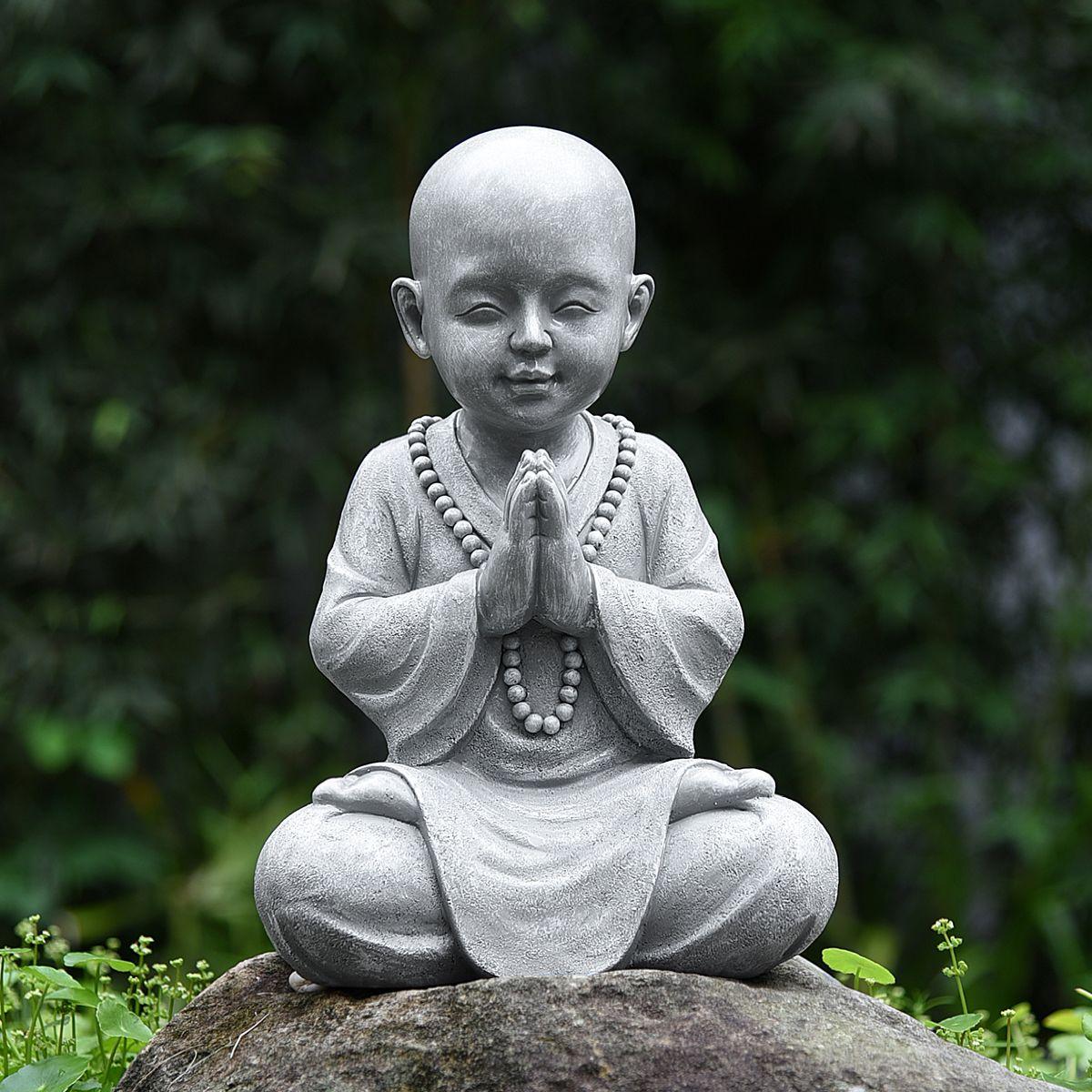 goodeco statue de bouddha pour bebe decoration de jardin sculpture de moine zen decoration de jardin pour s asseoir