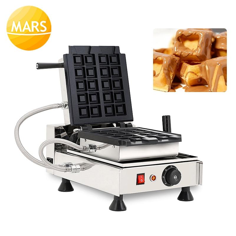 Кухонное оборудование Хрустящие вафельные булочки пекарь железная пластина Вертикальная вафельница машина для выпечки закусок ваффо куса... - 6