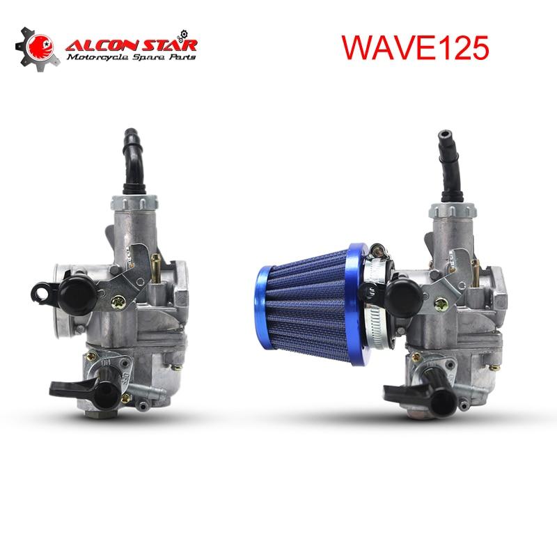 Sclmotos-20mm Motosiklet WAVE125 Karbüratör Carb Ile 42mm Hava Filtresi Karboretor Karb Honda WAVE 125 için W125 scooter Yarış