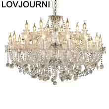 Nordic Candiles Colgante Modernos Modern Lamp Vintage Deco Maison Luminaria Crystal Light Loft Luminaire Suspendu Hanglamp
