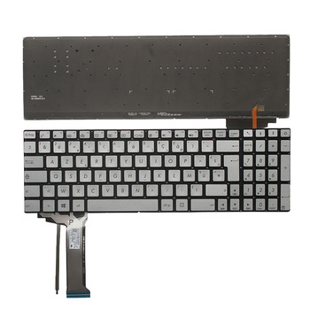 New French keyboard FOR ASUS N751 N751J N751JK N751JX with backlit FR laptop keyboard silver