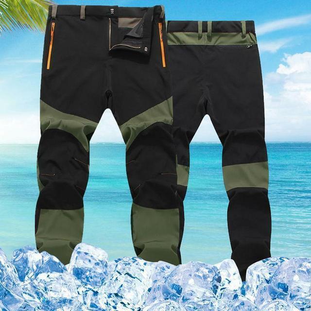 Hommes femmes automne nouvelle couleur Patch randonnée pantalon été séchage rapide respirant pantalon imperméable en plein air Trekking mâle élastique pantalon