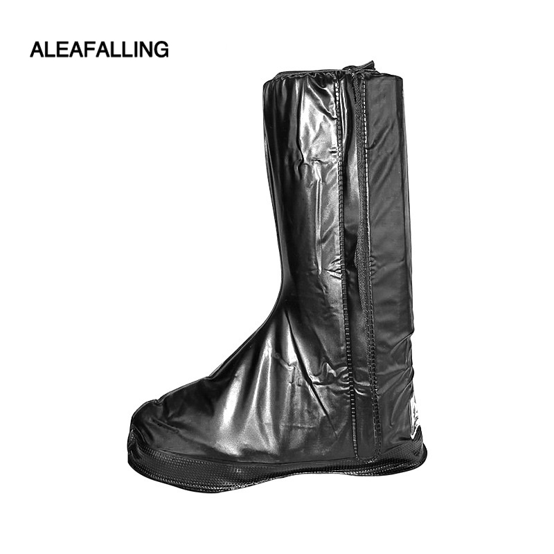Long Barrel Anti-skid Shoes Cover Foot Protection Travel Shoes Water-proof Shoes Cover Sheath Locomotive Rain-proof Shoes Cover