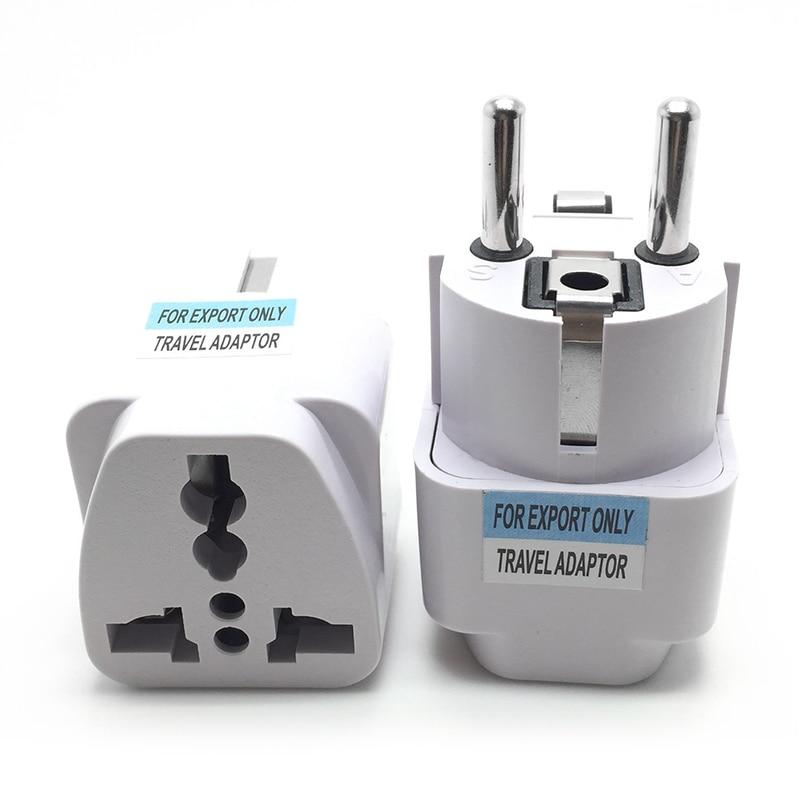 Universal EU Plug Adapter International AU UK US To EU Euro KR AC Travel Adapter Electrical Plug Converter Power Socket 1pcs(China)
