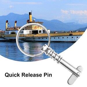 Image 1 - Tekne Bimini üst güverte menteşe yedek Quick Release yaylı pin ve çekme halkası için tekne/yat/kano vb tekne aksesuarları deniz