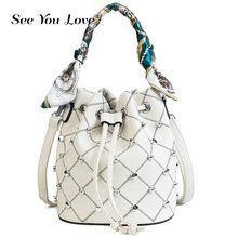 Fashion 2019 Brand Women Designer Bucket Shoulder Bag PU Leather Composite Messenger Shoulder Bags New Female Crossbody Bags