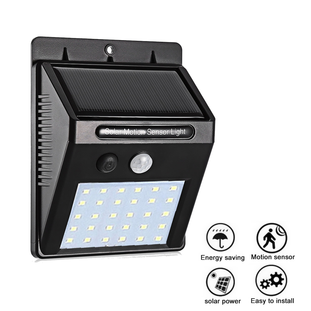 PIR Motion Sensor Wall Light 35 LED Solar Energy Street Light Outdoor Waterproof Yard Path Home Garden Security Solar Power Lamp