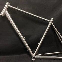 Beliebte bike rahmen titanium legierung GR9 TITANIUM kies bike rahmen für disc bremse 700C