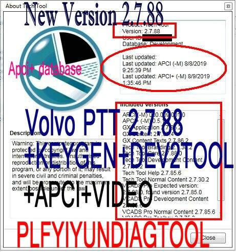 2020 nova ferramenta de tecnologia premium ptt v2.7.96 v2.7.25 vcads desenvolvimento + devtool plus keygen instalar vídeo apci para volvo diagnóstico