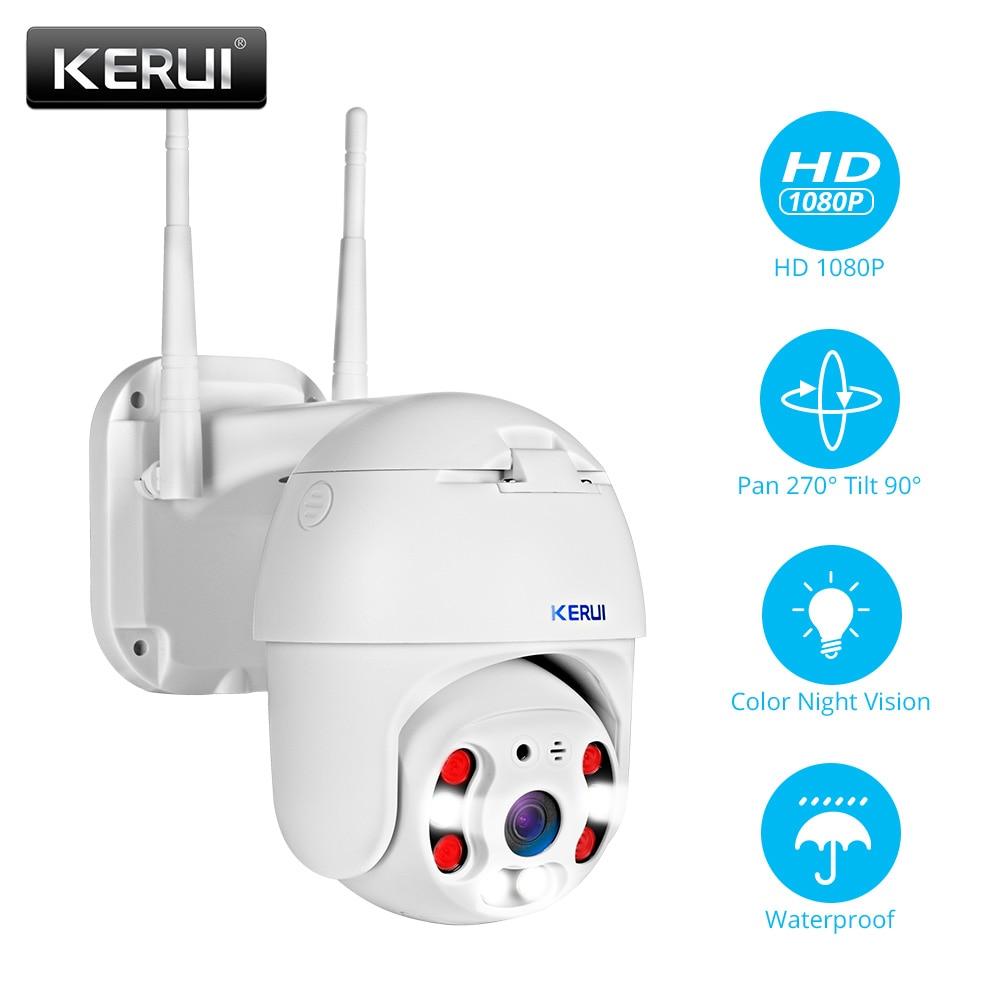 KERUI Outdoor Waterproof Wireless 1080P 2MP 4X PTZ WiFi IP Camera Speed Dome Camera CCTV Surveillance With 3 meter Power adapter|Surveillance Cameras|   - AliExpress