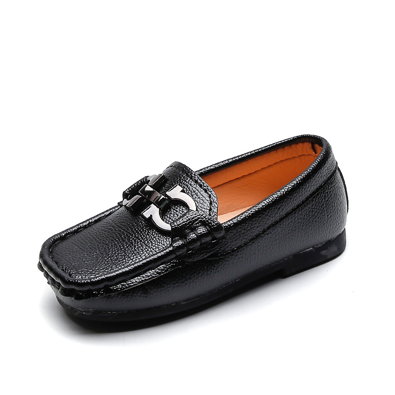 New Children Shoes Boys Girls Casual Shoe Kids Leather Sneakers Boys Girls Boat Shoes Slip On Soft Casual Flats Shoes Sandals