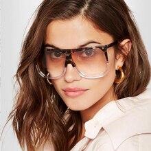 Chic Flat Top Square Sunglasses Women Oversized 2019 Fashion