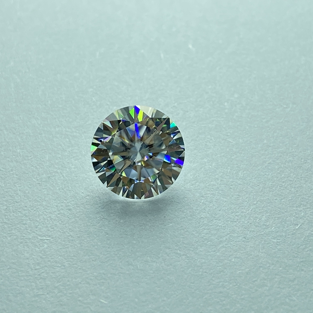 Lab Created diamond 5mm 0.5ct GH color VVS1 Loose Moissanite Round Brilliant Cut Moissanite Test Positive image