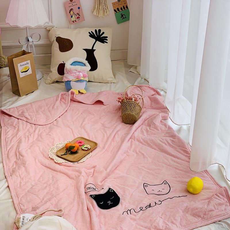 criancas sukura flor adoravel dos desenhos animados do bebe cobertor nap trico de alta qualidade do
