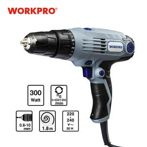Workpro 10mm 2-Speed 300W coreded drilldriver 220V/50HZ Electric Screwdriver with 1.8m power cord