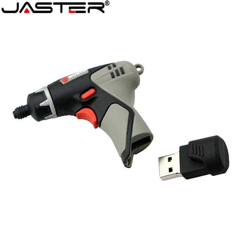 JASTER Pendrive 4GB 8GB 16GB 32GB 64GB USB Flash Drive Electric Drill USB 2.0 Tool Memory Stick Cartoon USB Flash Disk