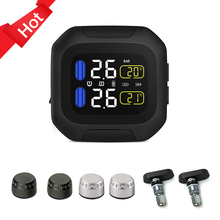 Waterproof M3 Motorcycle Real Time Tire Pressure Monitoring System TPMS Wireless