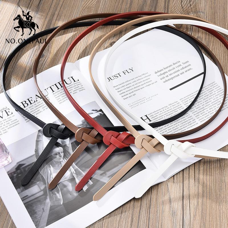 NO.ONEPAUL The Belt For Women Simple Dress Decorated  Elegant Belt Fashion Designer Design Slim Waist High Quality Women Belts