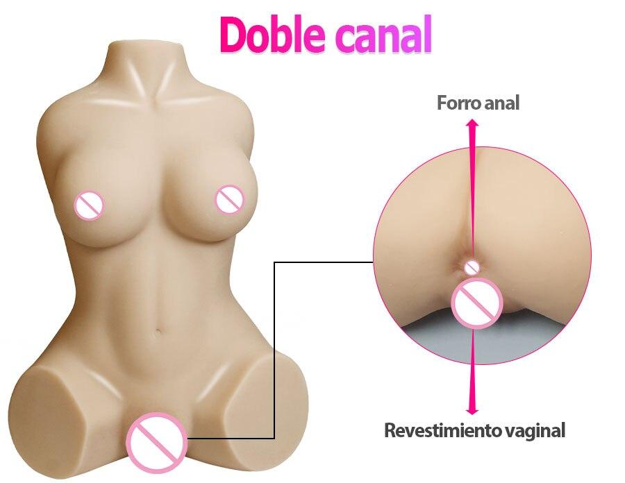 H49d3ee1455b4482e8172ac9791c73616c Muñeca sexual realista para hombres adultos, maniquí con Vagina Real, de goma, Anal, Media cuerpo, a la moda, productos calientes para masturbación masculina, 3D