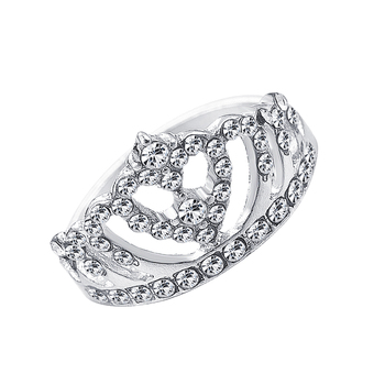 2020 New Fashion Crown Shape Rhinestone Crystal Rings Women Girl Wedding Bridal Party Ring Jewelry engagement ring 5