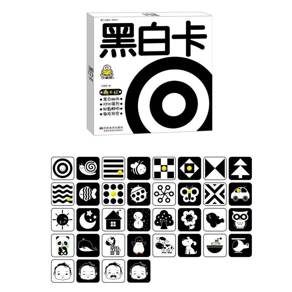 Hot Black And White Cards Baby High Contrast Book With Boy For Toddlers Toy Shower Gift Flash Educational Girls And Card B6H2
