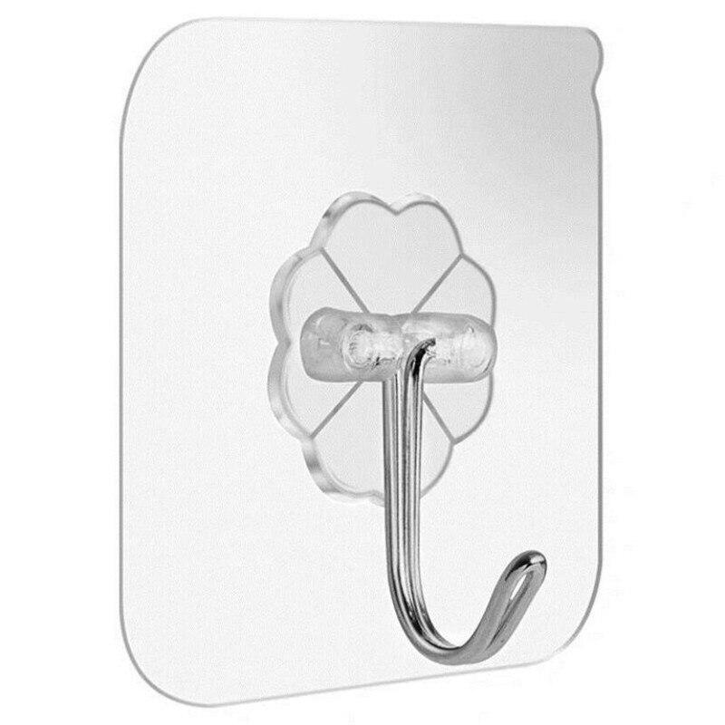 10/5Pcs 6x6cm Transparent Starke Selbst Adhesive Tür Wand Kleiderbügel Haken Saug Schwere Last Rack sucker für Küche Bad