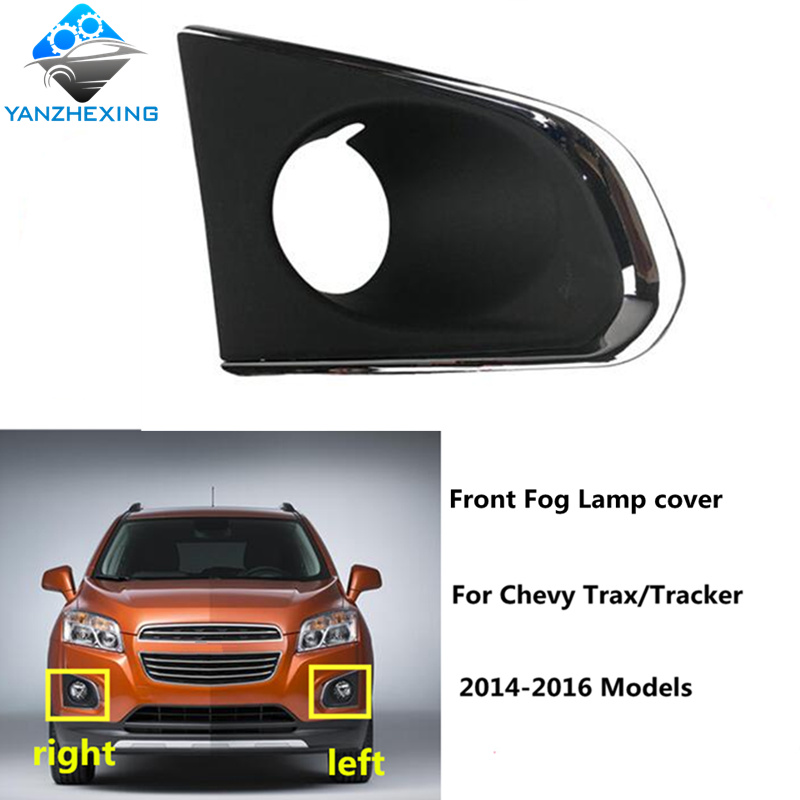LH Driver Front Fog Light Lamp Cover Strip Trim Chrome For 2016 Buick Envision