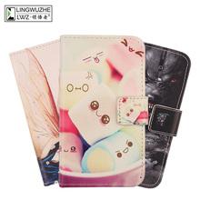 For TP-Link Neffos A5 Case 5 99 inch Luxury Flip Leather Case Back Phone Case for TP-Link Neffos A5 Holster cheap LINGWUZHE Flip Case Wallet Case Plain Dirt-resistant With Card Pocket
