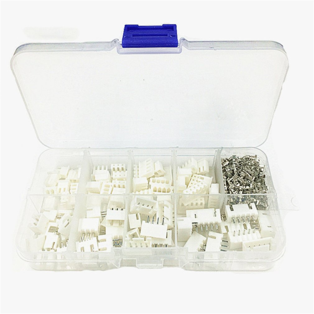 230pcs TJC3 XH2.54 2p 3p 4p 5 Pin 2.54mm Pitch Terminal Kit/Housing/Pin Header JST Connector Wire Connectors Adaptor XH Kits