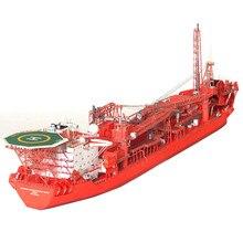 Venda quente 1:400 norueguês fpso offshore flutuante tanque de produção 3d papel modelo navio
