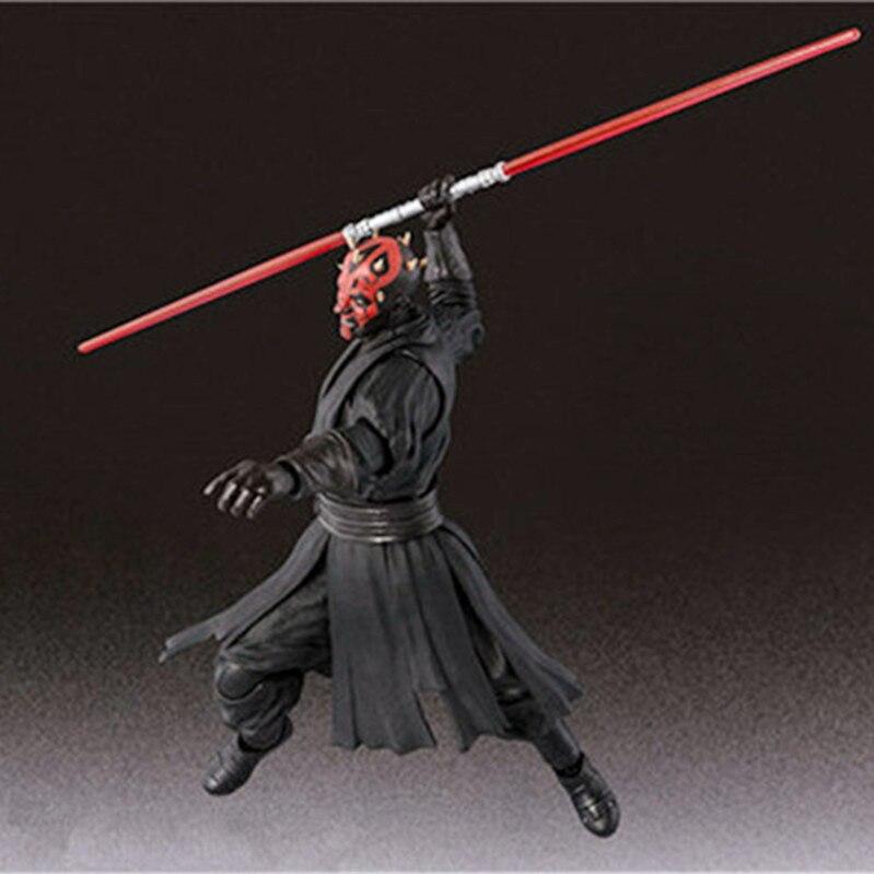 15cm Shf Star Wars Darth Maul Lightsaber Black Series Action Figures Super Movable Joints Face Change Pvc Models Gifts Figures 3