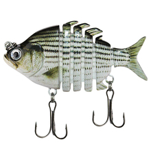 6 Segments Fishing Lure 6Cm/10G Jointed Minnow Artificial Hard Bait Treble Hook