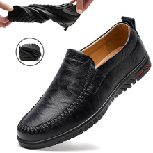 Shoes Luxury Driving Slip On Breathable Genuine-Leather Men DEKABR Brand Soft 47 Loafers