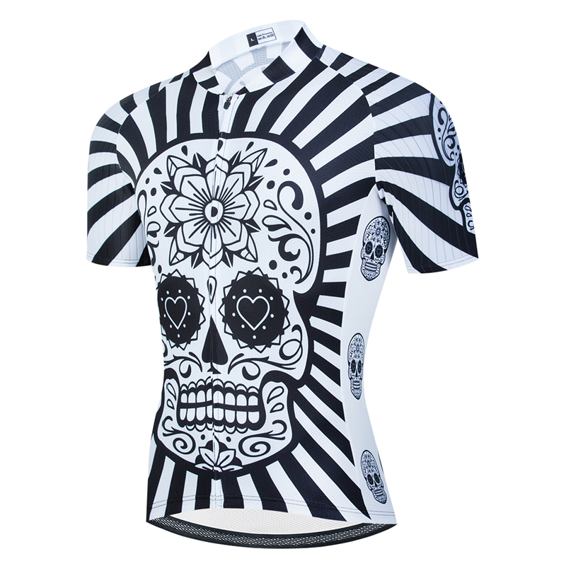 Skull Short Sleeve Cycling <font><b>Jersey</b></font> Road <font><b>Bike</b></font> Shirt Mtb <font><b>Jersey</b></font> Downhill Bicycle Clothing Triathlon Cycle Clothes <font><b>Custom</b></font> Sportswear image