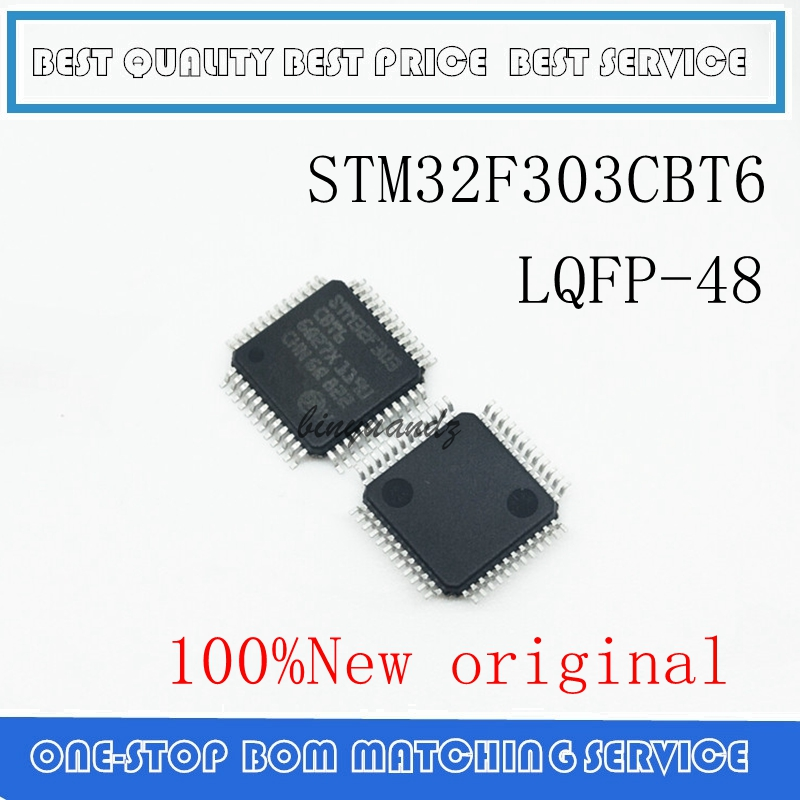 5PCS~10PCS STM32F303CB STM32F303CBT STM32F303CBT6 LQFP-48 100% New Original