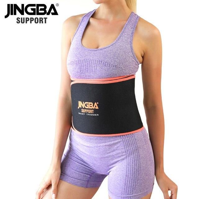 JINGBA SUPPORT Longer 130CM Unisex Neoprene Body Shaper Waist Trainer Loss Fitness Sweat belt Sauna Slimming Strap waist trimmer 3
