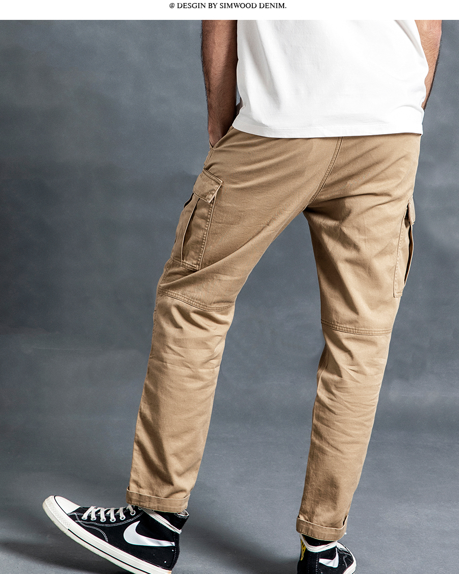 H49d4db0ab90d4f7b8e704b2e007c61d57 SIMWOOD New 2019 Casual Pants Men Fashion track Cargo Pants Ankle-Length military autumn Trousers Men pantalon hombre 180614