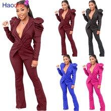 HAOOHU 2pcs Women Set Formal Outfits Women