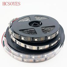 1m/3m/5m WS2801 magic RGB IP67 DC5V Individually Addressable Full Color Chip LED Strip 32LEDs/M