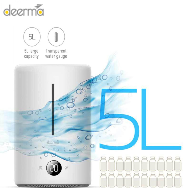 5L Air Humidifier Air Purifying Mist Maker Household Ultrasonic Diffuser Aromatherapy For Office Home Touch Screen