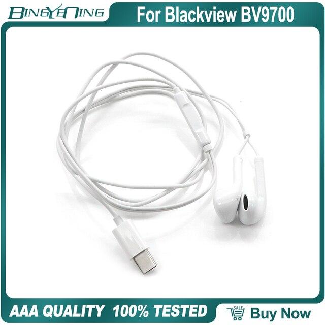 100% New Original Earphones Headsets For Blackview BV9700 Pro Earphone In ear with Microphone Type c Helio P70 Octa Core